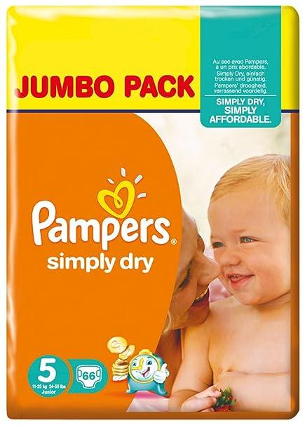 Pampers - Simply dry midi 11-25kg, pack de 2 (2 x 66