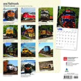 Railroads 2018 12 x 12 Inch Monthly Square Wall Calendar with Foil Stamped Cover, Train Rail Transportation (Multilingual Edition)
