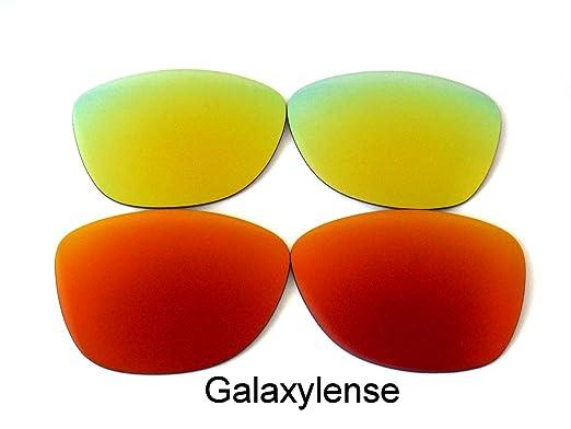 Galaxia Lentes De Repuesto Para Oakley Frogskins rojo y Oro Polarizado 2 pares, GRATIS s&h