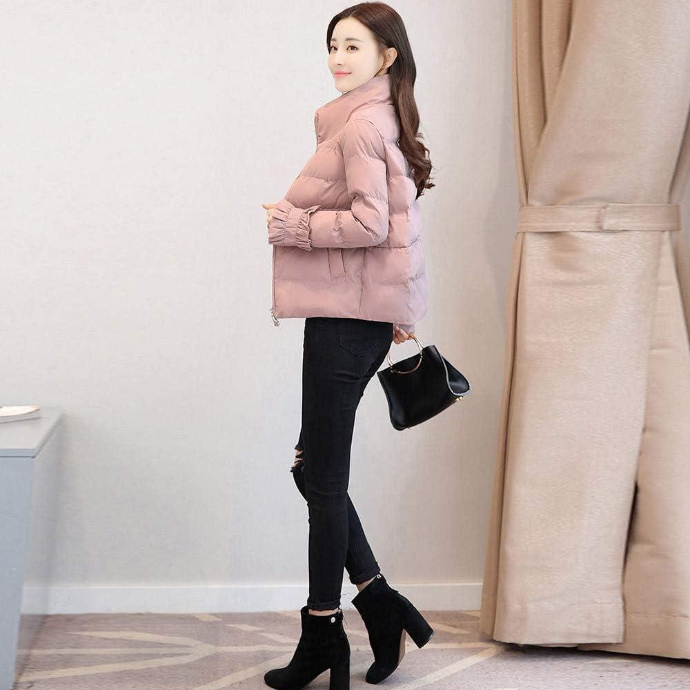 COPPEN Women Outerwear Fur Bread Service Coat Long Cotton-Padded Jackets Pocket Coats