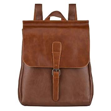Retro Pu Leather Men Backpack Schoolbag Teenagers Boy High School Student College Wind Casual Travel Back Bag Black Brown Men's Bags Luggage & Bags