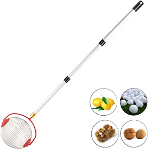 C-CHAIN Nut Harvester Ball Picker Stainless Steel Adjustable Lightweight Collect Walnuts, Pecans, Crab Apples, Nerf Darts and Small Fruit Objects 1'' to 3'' in Size (1)