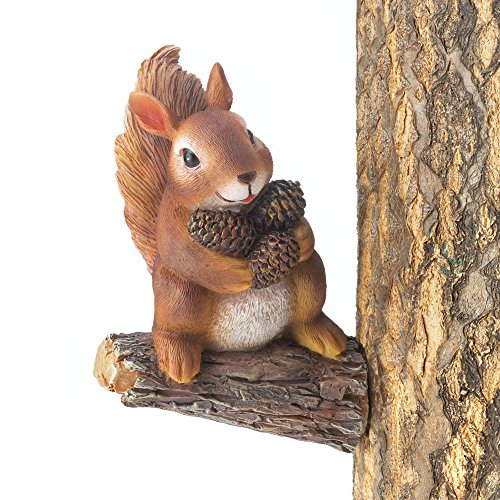 Gathering Squirrel Tree Decor Indoor/Outdoor Garden Yard Porch Patio Figurine N@N