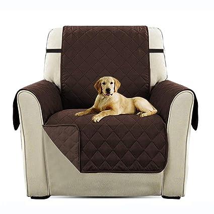 PETCUTE Lujo Cubre para Silla Fundas de Sofa Protector de sofá o sillón, Dos o Tres plazas Marrón
