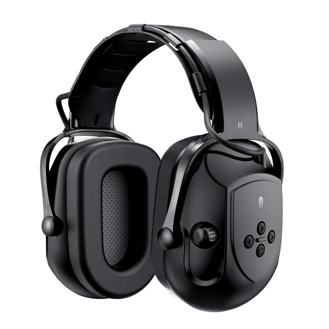Mpow HP102A Bluetooth Noise Reduction Safety Ear Muffs, NRR 29dB/SNR 36dB Adjustable Ear Hearing Protection Headphones with 3.5mm AUX, Built-in Mic, Rechargeable Battery and Volume Control