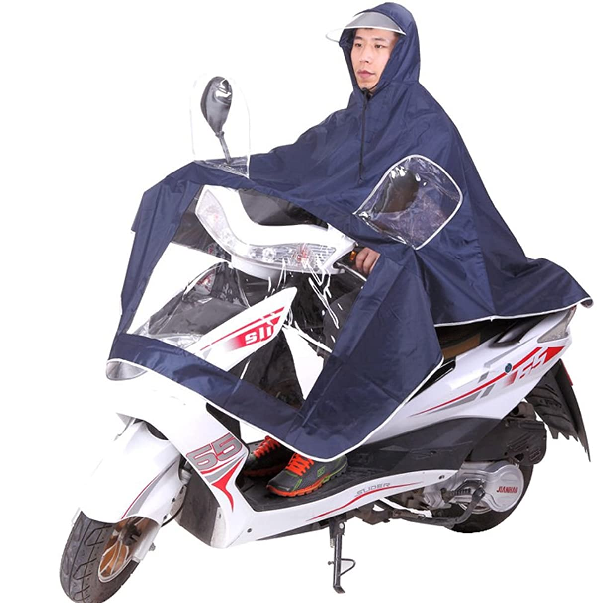 推論奨励パラメータNedVed (ネドベド) レインポンチョ 長袖付き 足元ロング丈 バイク 原付 スクーター 自転車 メンズ レディース フリーサイズ レッド