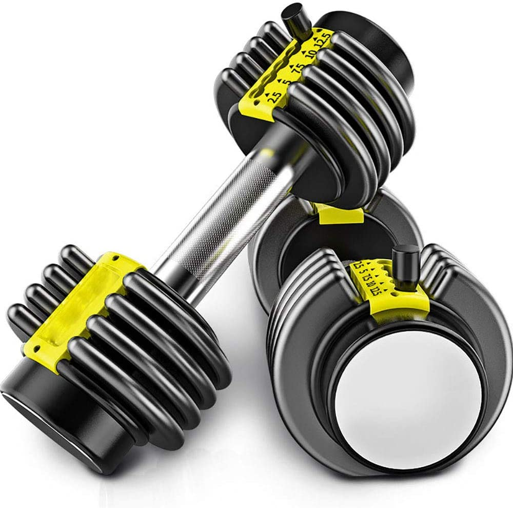 METTE Removable Dumbbell Set, Multi-Level Weight Adjustment, Effective Fitness Strength Training, for Body Workout Home Gym Lose Weight, 12KG/26.5Lbs (Pair)