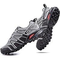 Zapatillas Trail Running Hombre Mujer Impermeables Zapatos Trekking Ligero Botas Senderismo Bajos Multideporte Negro…