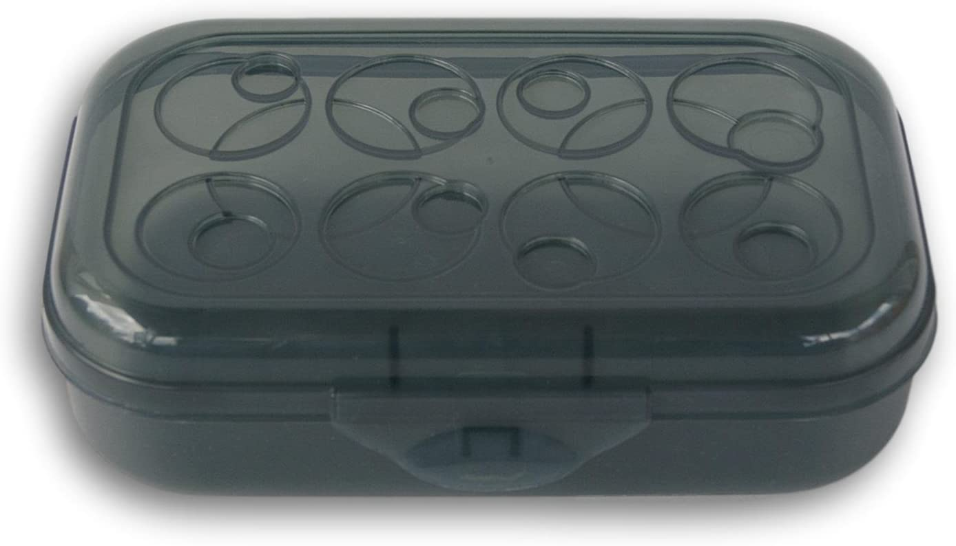 Sterilite Black Circles Patterned Lid Pencil Case Box
