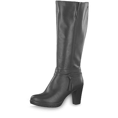 432346 in Schwarz 38 Frauen High-Heel Lederimitat Stiefelette
