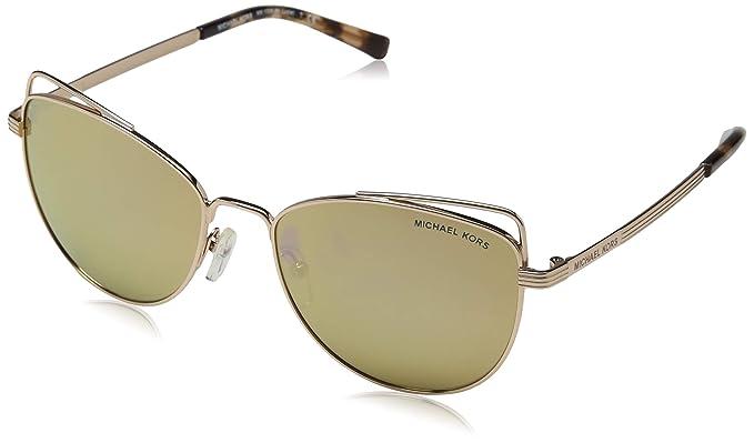 Michael Kors 0MK1035 Gafas de sol, Lite Gold, 55 para Mujer ...