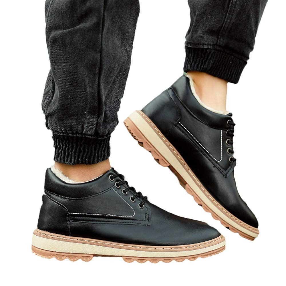 Mens Casual Plus Cotton Snow Boots Winter Plus Velvet Waterproof Mens Shoes Pandaie-Mens Shoes