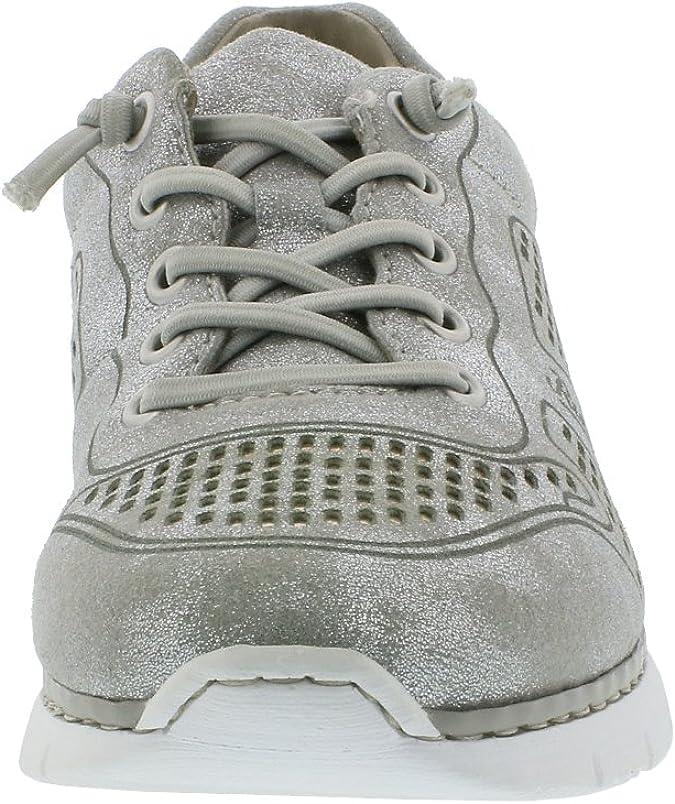 Rieker M5228 Damen Halbschuhe, Sneaker, Schnürer, sportliche