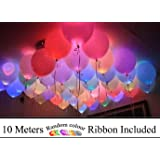 Party Propz Led Light Balloons(15 with Ribbon) Or Led Balloons for Birthday, Anniversaries,Wedding Decorations