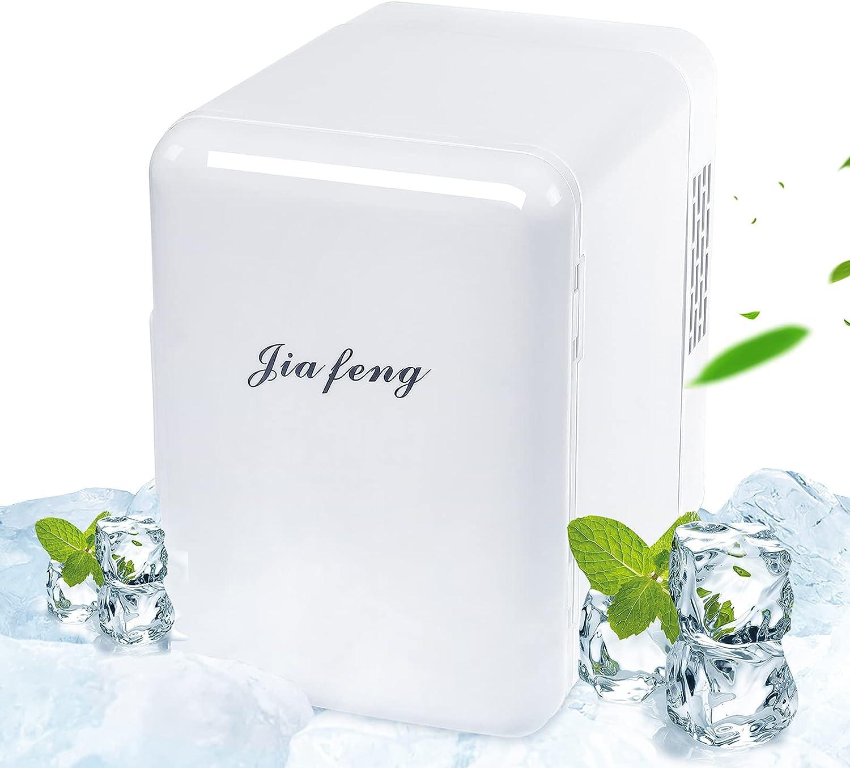 4 Liter AC/DC Mini Refrigerator for Skincare Fridge, Beverage Refrigerator,Beer fridge, Car refrigerator Mini Fridge for Bedroom,Mini Fridge for Skincare (White)
