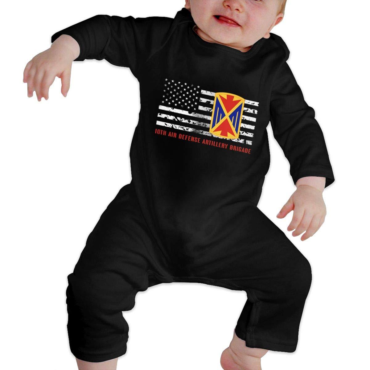 Gsaa 10th Air Defense Artillery Brigad Baby Long Sleeve Bodysuit Cotton Romper
