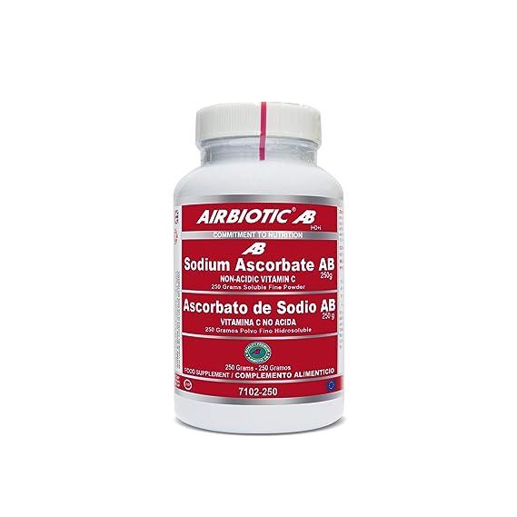 Airbiotic AB - Ascorbato de Sodio AB, 250 g: Amazon.es: Salud y cuidado personal