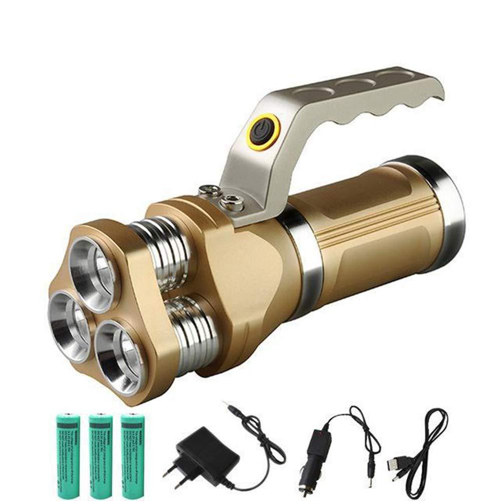 OKMNJIUBH Suchscheinwerfer Leistungsstarke Bewegliche Cree LED Taschenlampe 3 Modi 12000Lm 5 Leistungsstarke Jagd LED Miner's Taschenlampe Taschenlampe