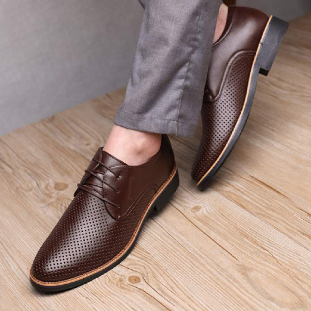 Männer Schuhe Mesh Derby Schuhe Leder Schuhe Männer Spitze Frühling Sommer schwarz braun Leichte Sohle Dekoration Braun f186e4