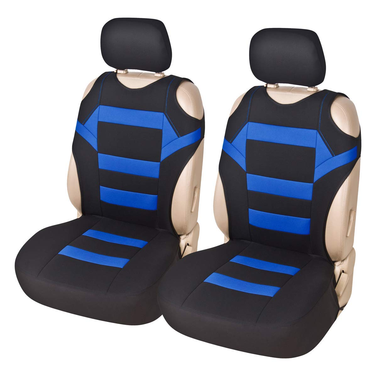 Front Car Seat Covers Sports Vest Styled Bucket Seat Covers Protector Airbag Compatible Universal Fit for Detachable Headrest