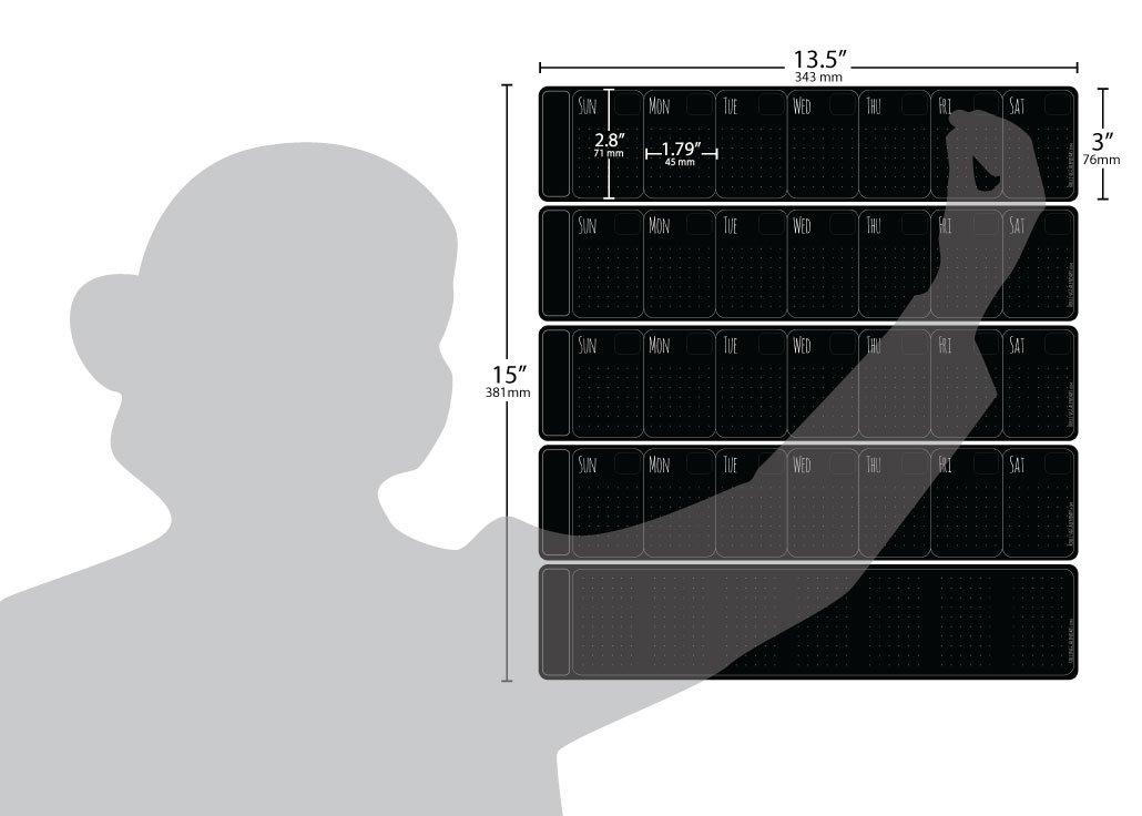 Amazon.com: Calendario Rolling Calendars magnético ...