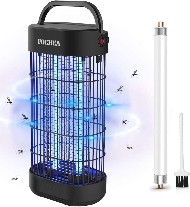 FOCHEA Insektenvernichter Elektrisch LED Insektenlampe Indoor M/ückenfalle Insektenfalle UV Insektenvernichter mit UV-Licht Effektive Bek/ämpfung von fliegenden Insekten Um M/ückenstiche zu Vermeiden