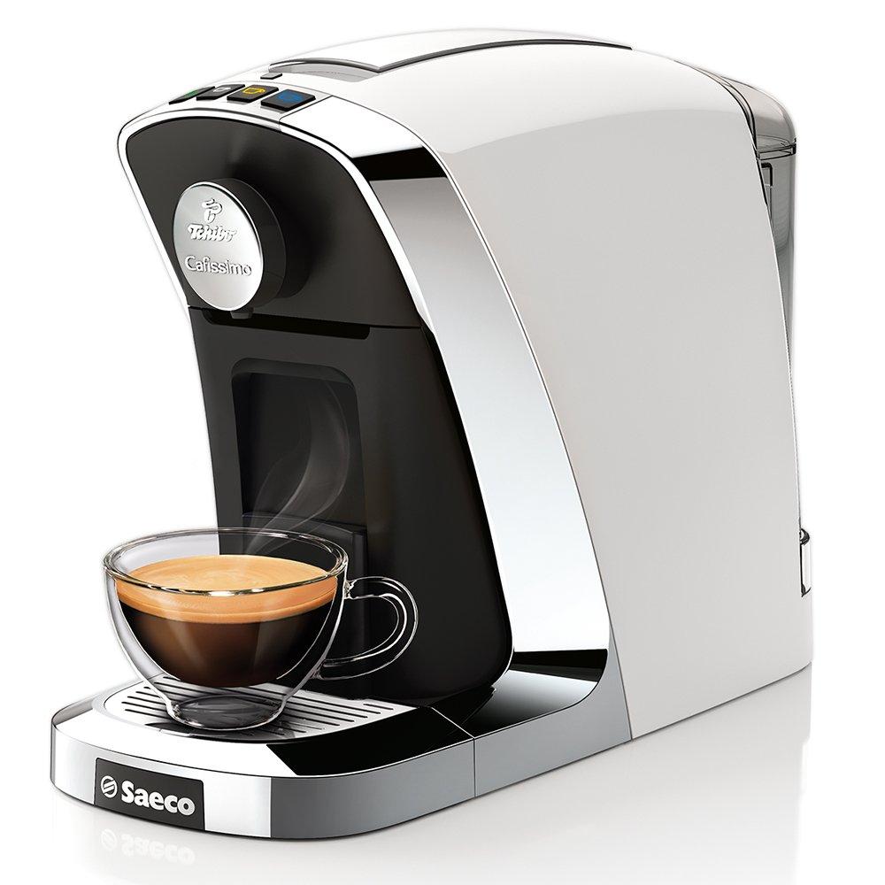 Tchibo, Saeco Cafissimo Tuttocaffè, Macchinetta a capsule per caffè, espresso e caffè crema, Bianco 300088