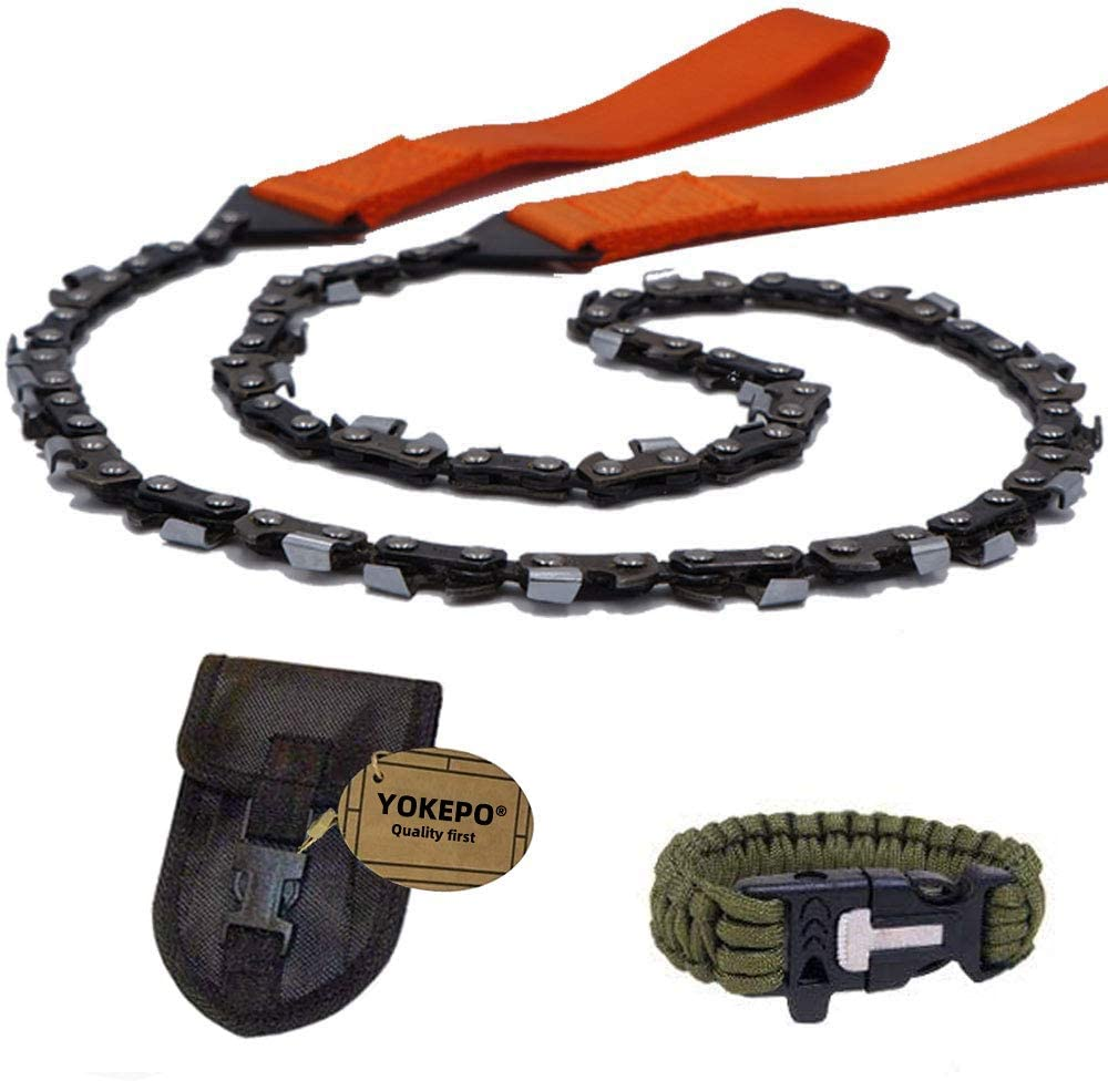 Pocket Wire Saw Hand Chainsaw Outdoor Camping Survival Tool with Nylon Strap JD