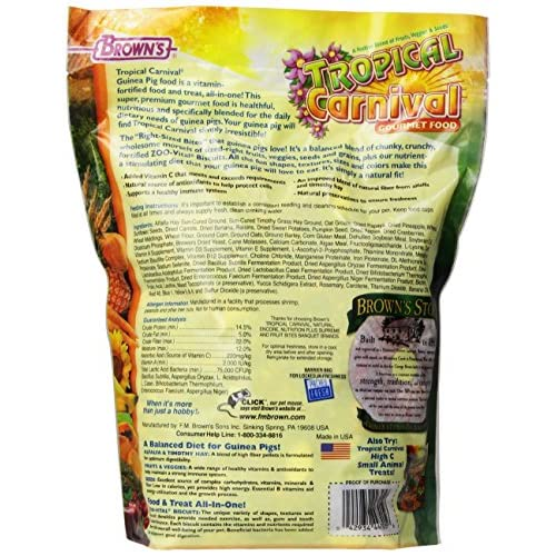 well-wreapped Tropical Carnival Guinea Pig Food