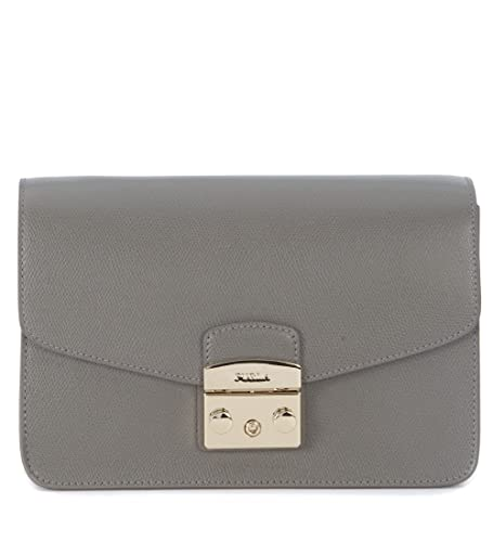 aae2e235c771 Furla Metropolis grey clay cal leather shoulder bag: Amazon.co.uk ...