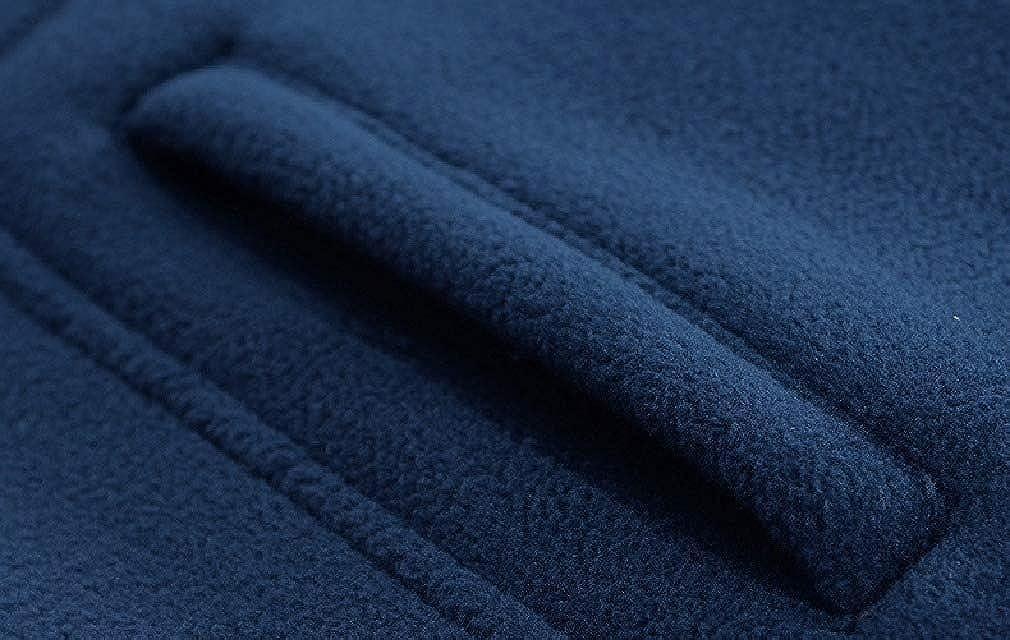Comaba Mens Fleece Lined Thick Jacket Coat Stand-up Collar Sweatshirt Coat