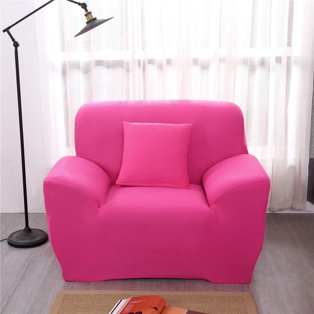 Funda Sofá de 1 2 3 4 plazas Universal Estiramiento, Morbuy Color Sólido Cubierta de Sofá Cubre Sofá Funda Furniture Protector Antideslizante Elastic ...