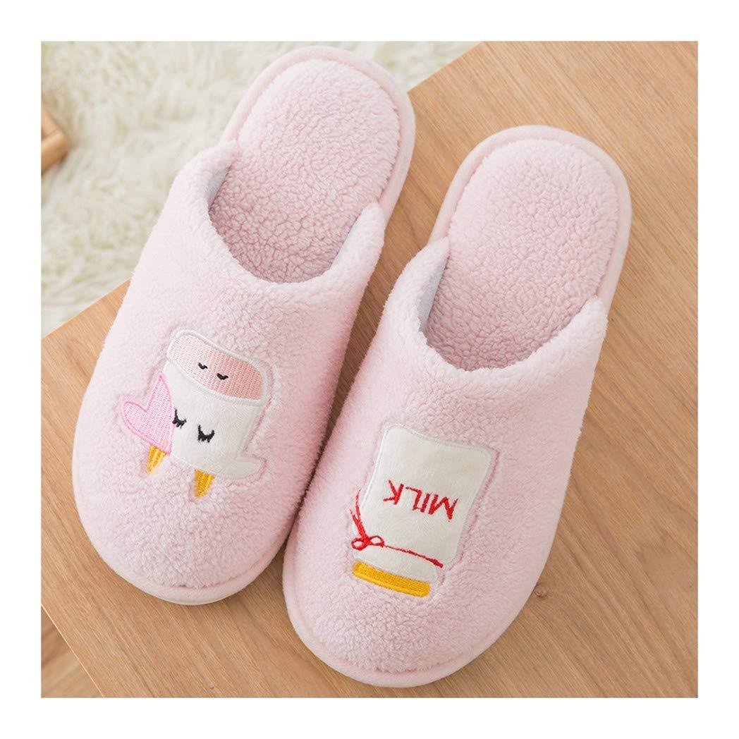OMFGOD Paternité Mignon Cartoon Chaussons Hiver Anti-Patinage Thermique Velvet Chaussons Chaussures Intérieur Chaussures pour Enfants Adultes