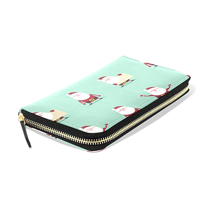 Penguins And Trees Wallets For Men Women Long Leather Checkbook Card Holder Purse Zipper Buckle Elegant Clutch Ladies Coin Purse
