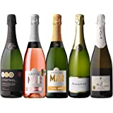 すべてシャンパン製法 超コスパ 極上辛口スパークリング5本セット (Amazon出荷)