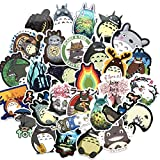 64PCS My Neighbor Totoro, Clear Stickers No-Duplicate Waterproof Vinyl Stickers for Skateboard Luggage Helmet Guitar (Totoro)