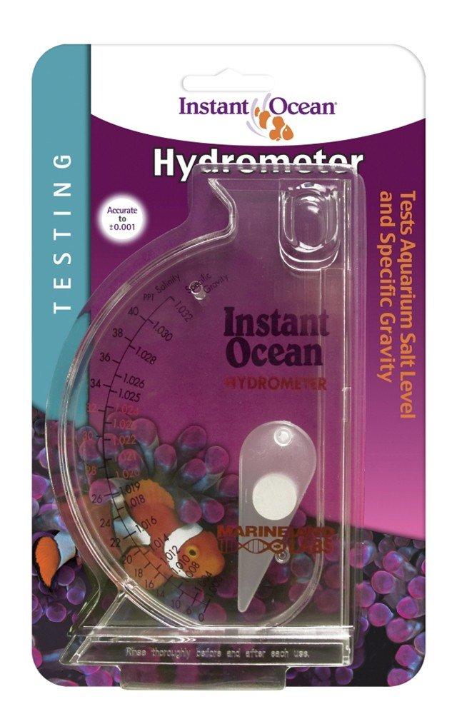 B00019JOSO Instant Ocean Aquarium Water Test Hydrometer, Marine Salt & Gravity Lavel Testing Scale 610y151-AhL