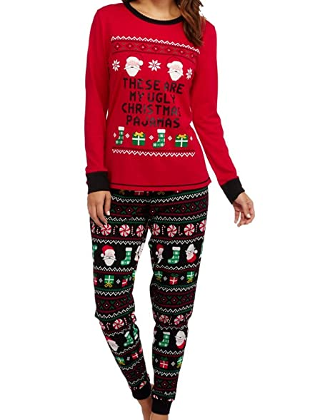 womens red u0026 black ugly christmas pajamas holiday sleep set x largewomens red u0026 black ugly christmas pajamas holiday sleep set x large (16