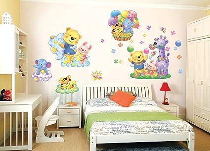 Decorazioni Pareti Orsetti : Ufengke® parco animale cartone animato orsi carino e elefanti