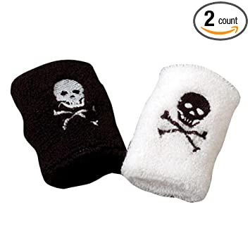 Set Of 2 Kid's Pirate Terrycloth Wristbands Sweatbands