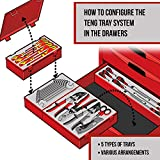 Teng Tools - 16 Piece 1/2 inch Drive Hex Bit Socket Set - TTHEX16