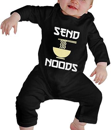 BKNGDG8Q Unisex Baby Romper Jumpsuit Send Noods Ramen Noodles Organic One-Piece Bodysuits Coverall Outfits