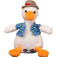 Heyeam Talking Duck Plush Interactive Toy Repeat What You Say Mimicry Pet Talking Record for Kids Boys Girls Electric…