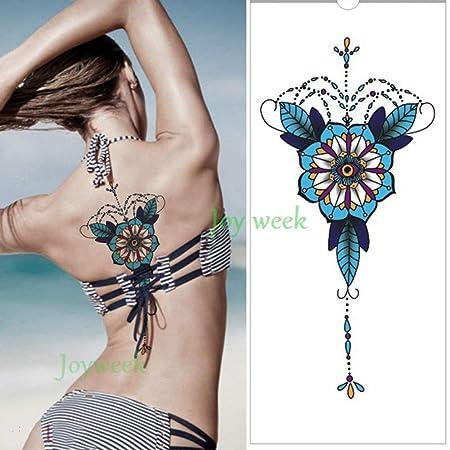 ljmljm 4 Piezas Impermeable Tatuaje Pegatina Diamante Cristal ...