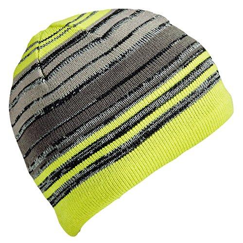 460295f7be40f Turtle Fur Illuminati High Visibility Reflective Knit Striped Beanie Glo  Stik