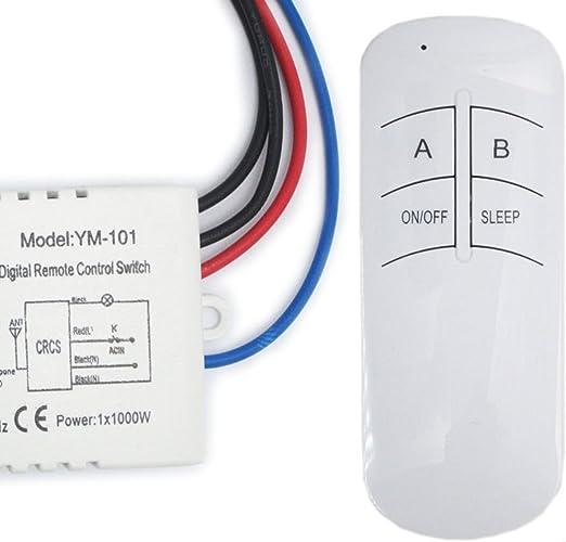 Aiming 220V Multifonction Commutateur de t/él/écommande sans Fil Lampe num/érique Interrupteur de Commande /à Distance