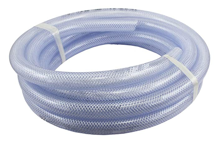 Food Grade High Pressure Braided PVC Tubing, 25 ft Roll 3/4
