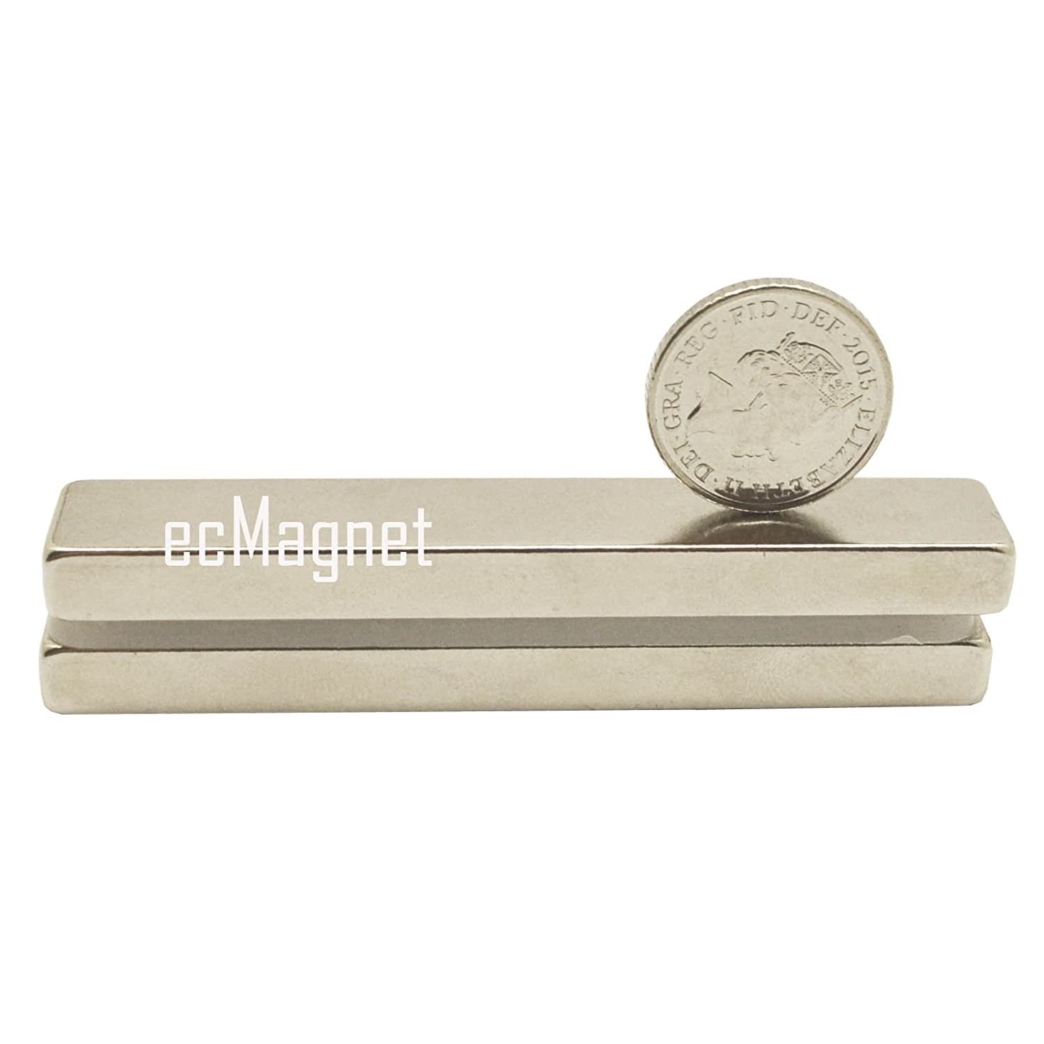 efeel Super Strong Extra Long DIY Craft Indstrial Use 64mm x 12mm x 5mm Rare Earth Neodymium Block Bar Magnets Grade N35 (1pc)