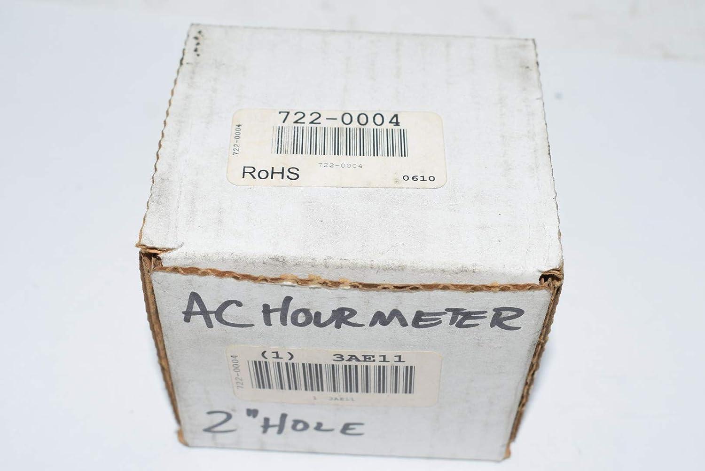 AC Quartz Hour Meter 2.80 in D 6 Digit