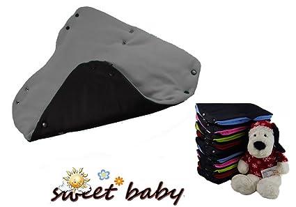 Tacto suave Deluxe Bebé Carrito/cochecito/carrito de bebé – negro/gris
